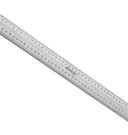 westcott Snij-Liniaal Aluminium-RVS Westcott met Anti Slip Rubberlaag 50 cm