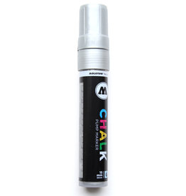 Molotow Krijt Stift/ Chalk Marker, 15 mm Molotow, Metallic Zilver/ Silver no 001