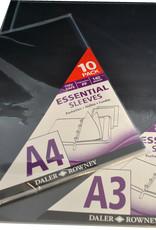 Daler-Rowney 10 stuks Daler Rowney glasheldere inleg zichtmappen voor Artcase A3 42x31,8cm glasheldere inleg zichtmappen met gestandariseerde gaten