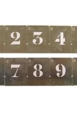 Kistcijfers aluminium sjabloon hoogte 50mm