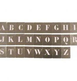 Kistletters aluminium sjabloon hoogte 25mm