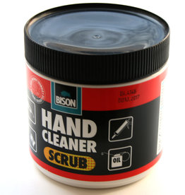 Bison Garage Zeep/ Hand Cleaner Scrub Bison 400 ml Cremekleurig met fijne korrel