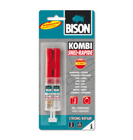 Bison 2 Komponentenlijm Bison Kombi-Kit, voor steen, glas, metaal, plexiglas