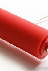 Abig Schoolkwaliteit inktrollers. I.t.t. wat men overal vermeldt is de rol van zeer goede kunststof, maar niet van rubber. Doorsnede 3 cm, kunststofdikte 3 mm. Deze rollen zijn nauwkeurig recht geslepen. De doorsnede is echter beperkt waardoor de rollers in di