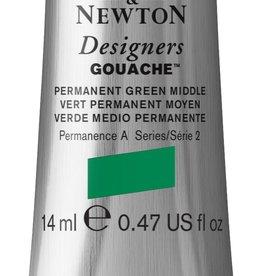 WInsor & Newton Gouache Designer W&N 14ml groen permanent middle 484/2