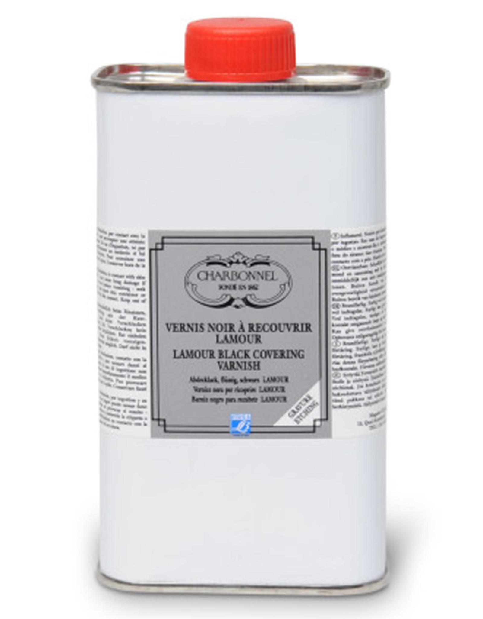 L&B Charbonnel Etsgrond Lamour Satine 75 ml Charbonnel. Lamour Satine zit wat dikker in de pot, en droogt daarmee relatief langzaam, zorgt op de korte termijn (tot 30 minuten) voor iets dikkere lijnen in de grond als deze nog relatief zacht is. Na ongeveer 30 minuten ge