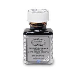 L&B Charbonnel Etsgrond Ultraflex 75 ml Charbonnel, vloeibaar in de pot, droogt op tot een flexibele wasgrond.