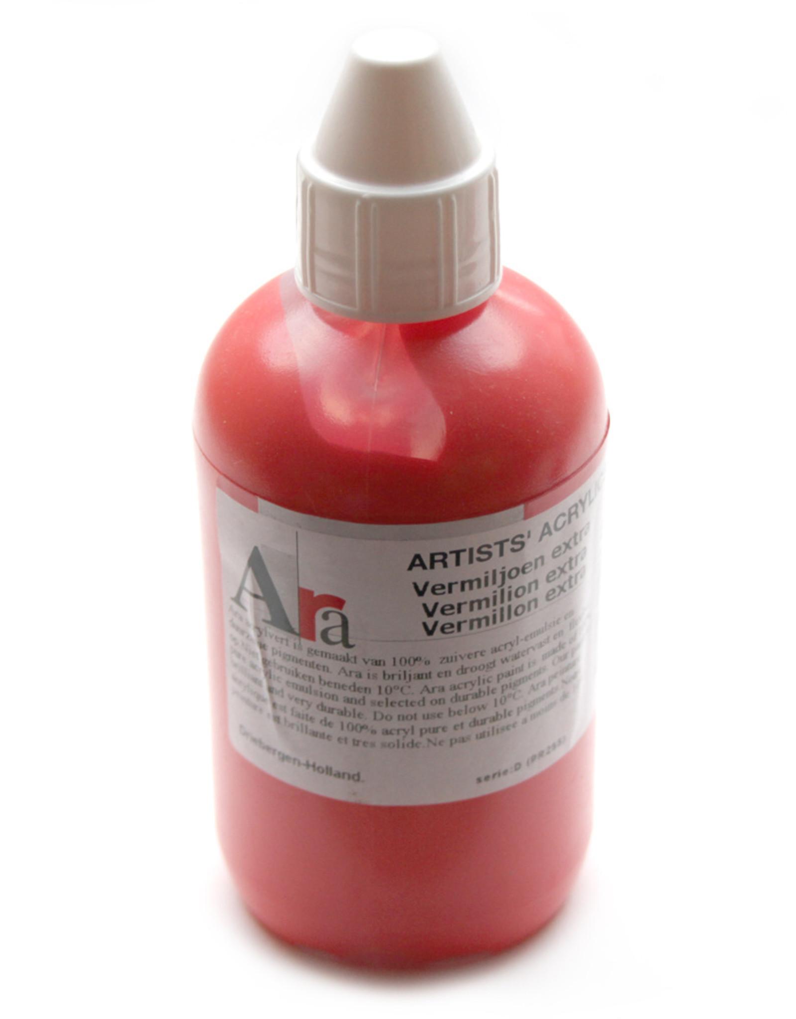 ARA Acrylverf Ara Artists'. Het beste niveau acrylverf 250ml. Hoge pigmentering, gunstige prijs. PAS OP GIFTIG! Enkele pigmenten bevatten Cadmium of Kobalt.