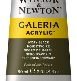 WInsor & Newton Acrylverf W&N Galeria 60ml Zwart Ivoor 331