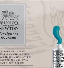 WInsor & Newton Gouache set CMYK-kleuren Designer W&N 14ml 5 stuks