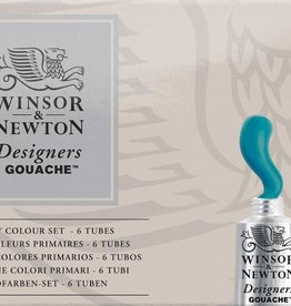 WInsor & Newton Gouache set Primaire kleuren Designer W&N 14ml 6 stuks