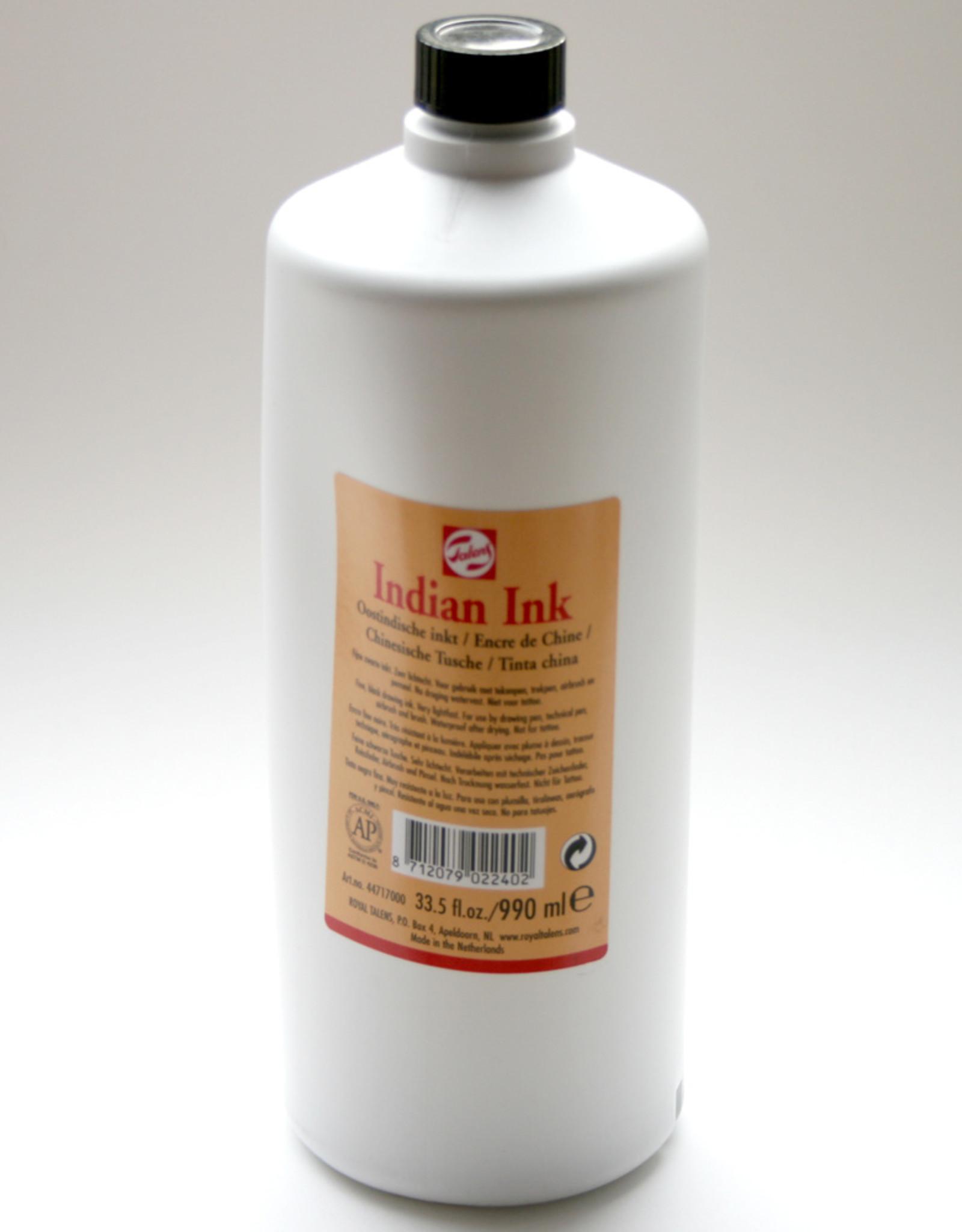 Oost Indische Inkt 1 l (990ml) Talens kunststof flacon