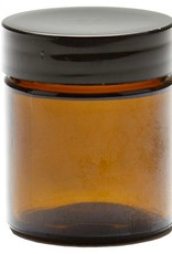 5 stuks Lege Glazen  Flakon 25-30cc Bruin Glas, met Zwarte Kunststof Schroefdop
