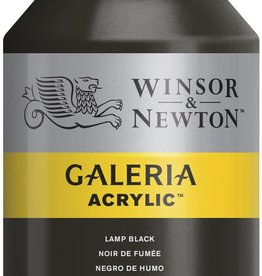 WInsor & Newton Acrylverf W&N Galeria 500ml Zwart Lampe 337