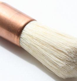 Bieringer Ocean Kwast  'Copper Boy' Varkenshaar Rond 24 mm breed haar 6 cm buiten naadloze Koperen Huls No 6 Lang Gelakte Steel Gesneden Nabewerkt Professionele Kwaliteit