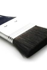 """Bieringer Ocean Kwast Zwart Geitenhaar Spalter Twee Inch Breed, Dubbel Dik gezet serie 633 no 2"""" Blauw Gelakte Steel"""