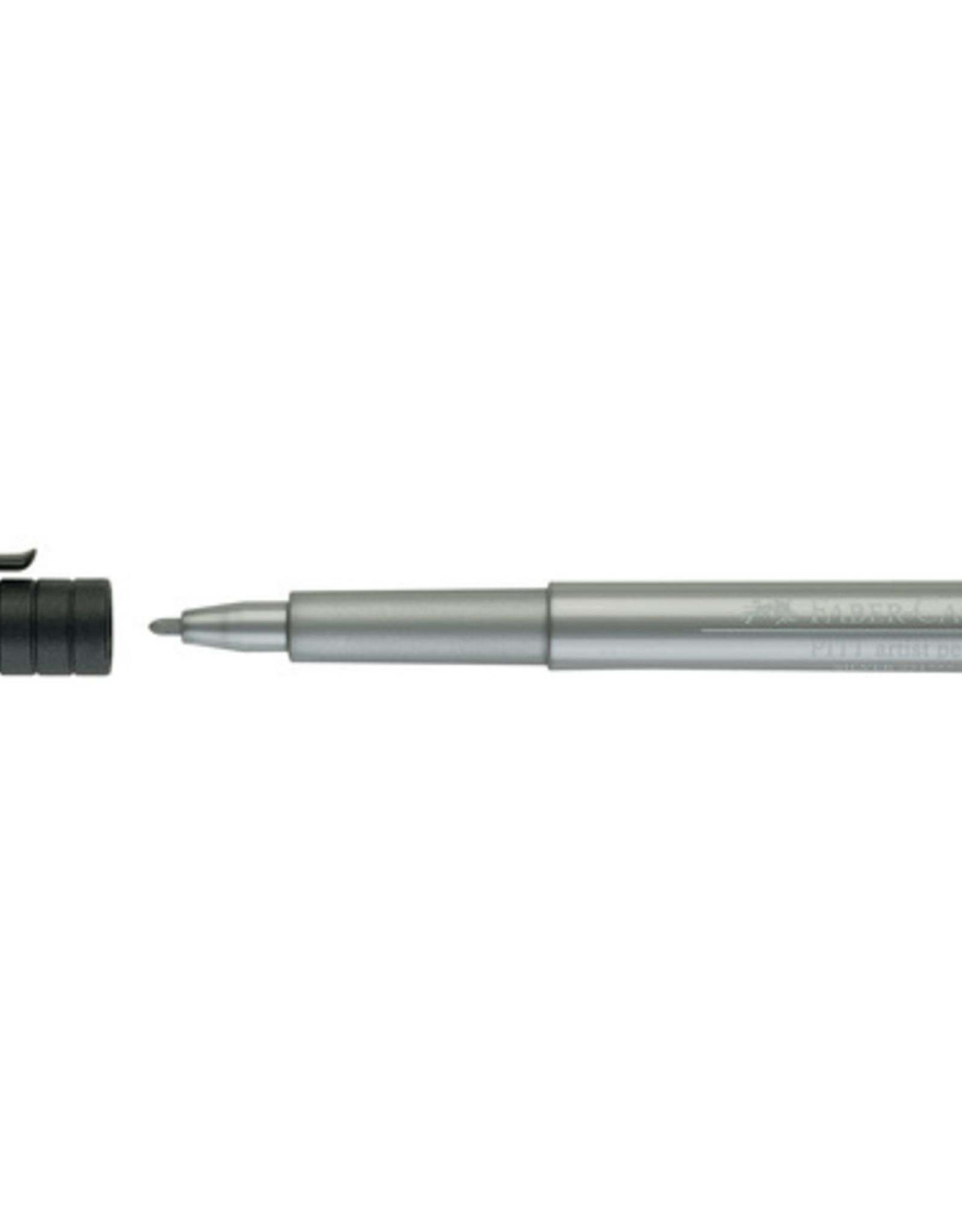 3 Stiften Zilver Faber-Castell Pitt Artists Pen Brush