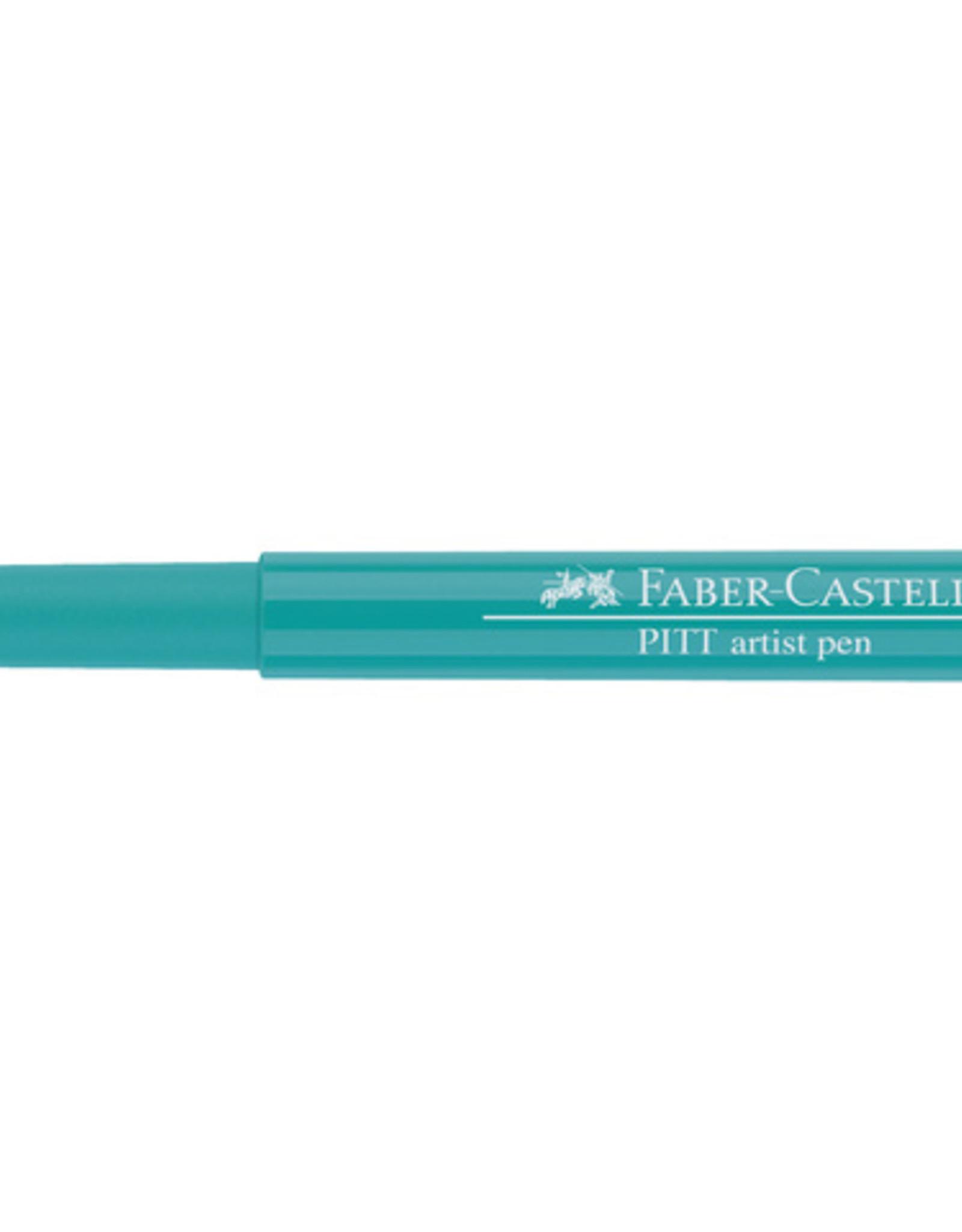 3 Stiften Groen Kobalt Faber-Castell Pitt Artists Pen Brush