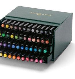 Luxe-pakket tekenstiften 48 stuks Faber-Castell Artists Pen Brush in doos
