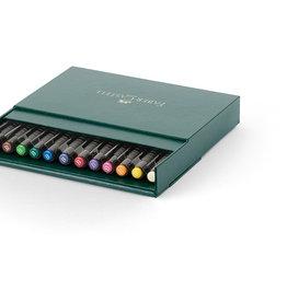 Basis-pakket tekenstiften 12 stuks Faber-Castell Artists Pen Brush in doos