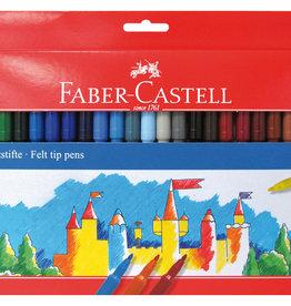 Prof-pakket tekenstiften 50 stuks Faber-Castell in Kartonnen etui