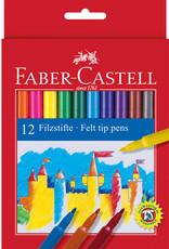 Basis-pakket tekenstiften 12 stuks Faber-Castell in Kartonnen etui