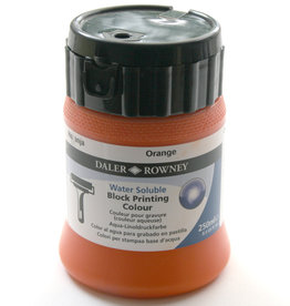 Rowney Blockprint Inkt Waterbasis Rowney Oranje/ Orange, 250 ml no 660