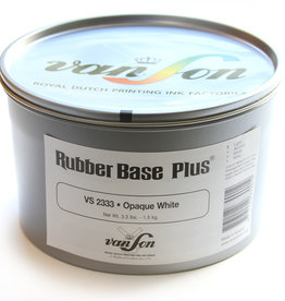 Van Son Rubberbase Rubber Base inkt Van Son Opaque White VS 2333 (oude aanduiding VS S357) blik 1,5 kg