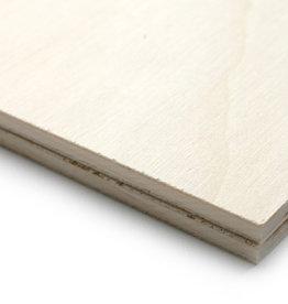 2 platen Populieren Triplex 6,5mm goede studiekwaliteit formaat 45x60 cm (50x65 cm papier)
