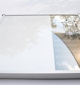 Barth 2x Wissellijst 40x40 Aluminium Satine Barth profiel 9x16mm(916)