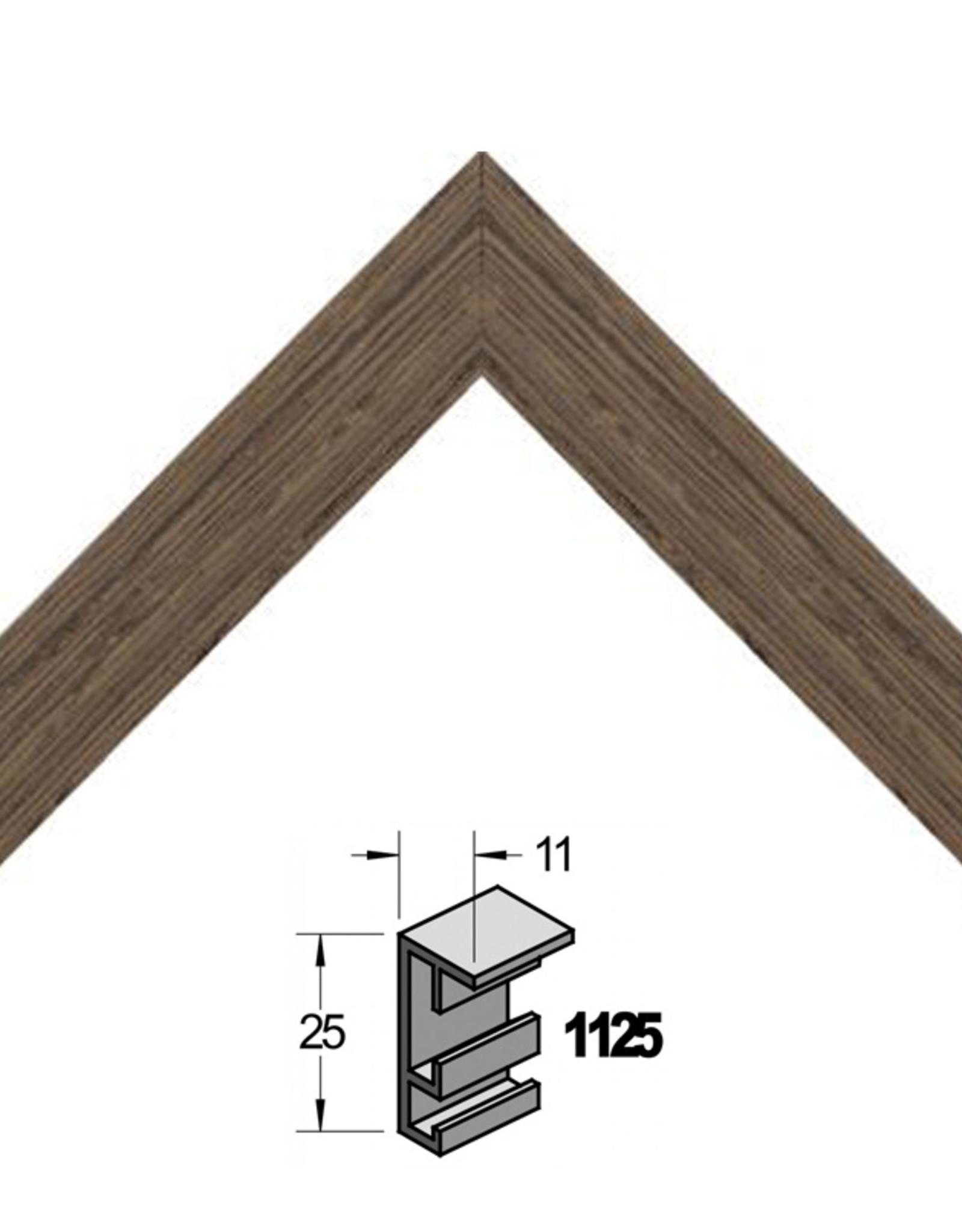 Barth Bekende Barth-standaard. Zeer goede kwaliteit wissellijsten. Eventueel is een sponning/ verdieping toe te voegen. Wenge 11mm aanzicht en 25 mm diepte, met vierpunts ophangsysteem.
