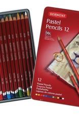 Derwent Basis-pakket pastelpotloden 12 stuks Derwent Pastelpotloden in metalen doos