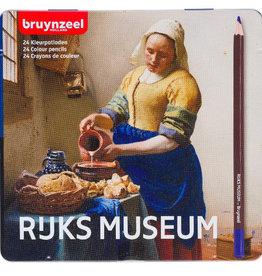 Bruynzeel Set kleurpotloden 24 stuks Bruynzeel, Rijksmuseum, 'Melkmeisje' in metalen doos