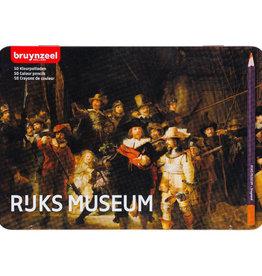 Bruynzeel Set kleurpotloden 50 stuks Bruynzeel, Rijksmuseum, 'Nachtwacht' in metalen doos