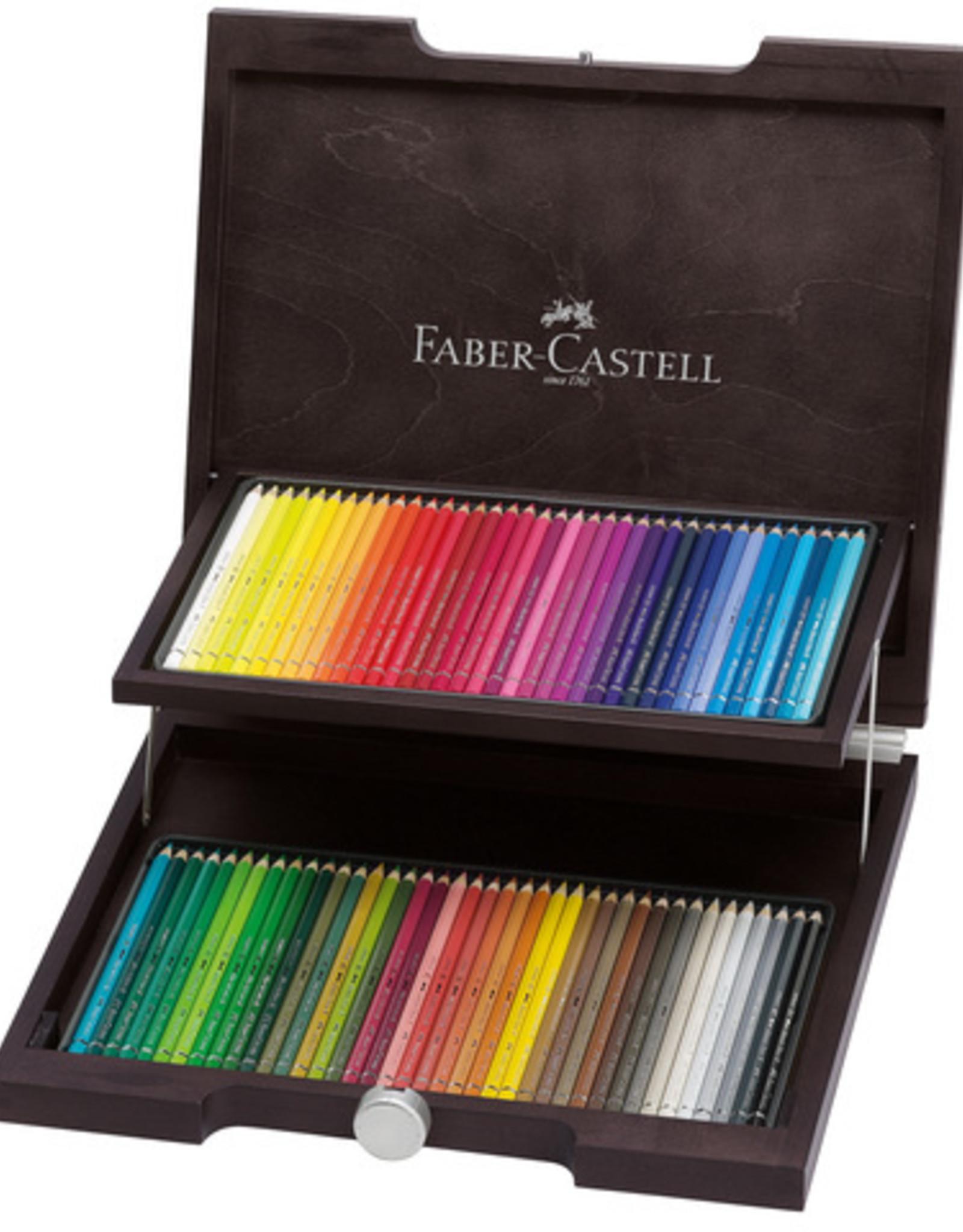 Faber-Castel Aquarelpotloden 'Prof'set 72 stuks in luxe houten kist Faber Castell 'Albrecht Durer'