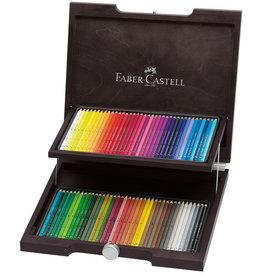 Faber-Castel Aquarelpotloden set 72 stuks in luxe houten kist Faber Castell 'Albrecht Durer'