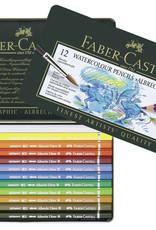 Faber-Castel Aquarelpotloden set 12 stuks Faber Castell 'Albrecht Durer' in metalen doos