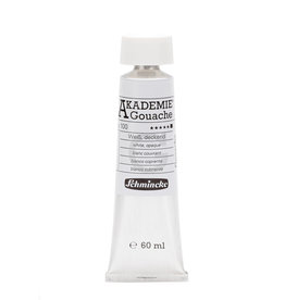 Schmincke Gouache Verf Schmincke Akademie 60 ml Wit Dekkend/ Opaque White 100-1