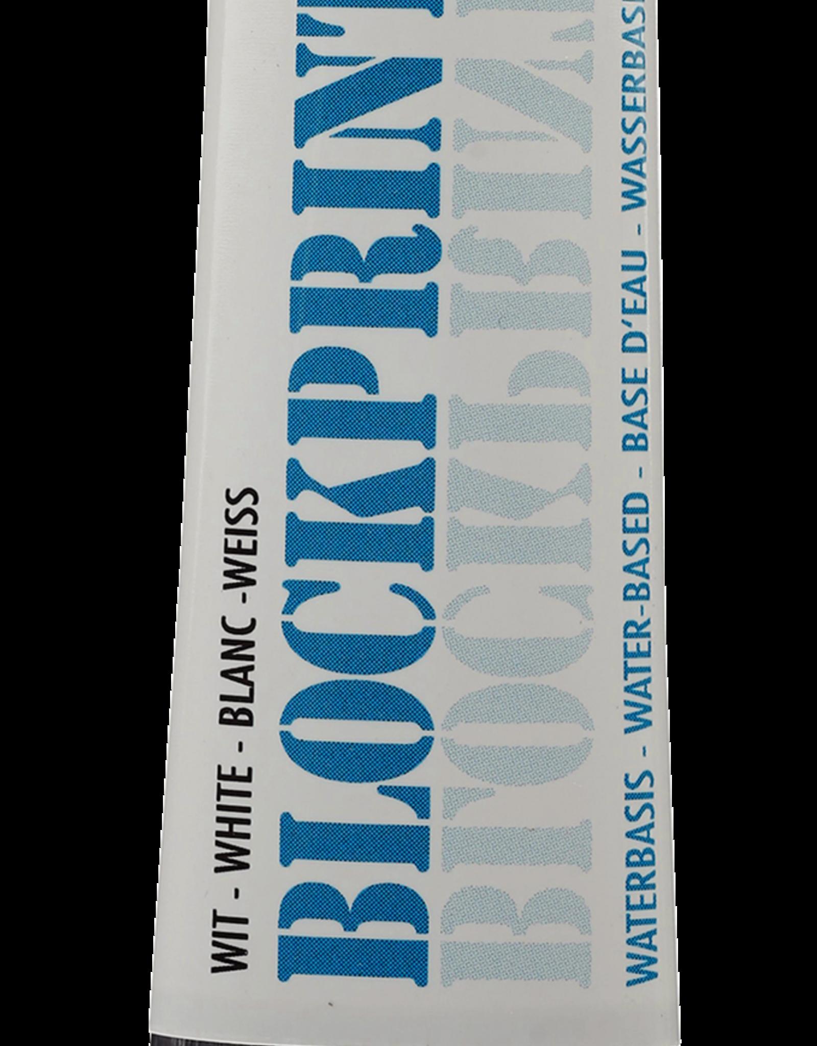 Talens Studiekwaliteit blockprint inkt op waterbasis. Veel gebrikt voor linosnedes en monoprint. Niet giftig bij aanraking. Daarmee min of meer geschikt voor kinderen vanaf 4 jaar. Het kleuraanbod is beperkt.
