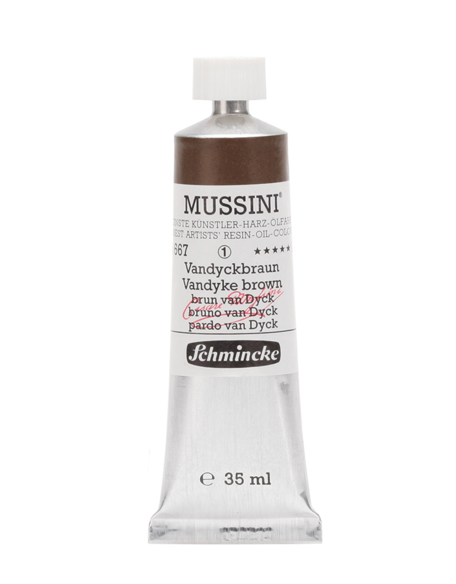 Schmincke Olieverf Mussini 35 ml Bruin Van Dijck 667/1