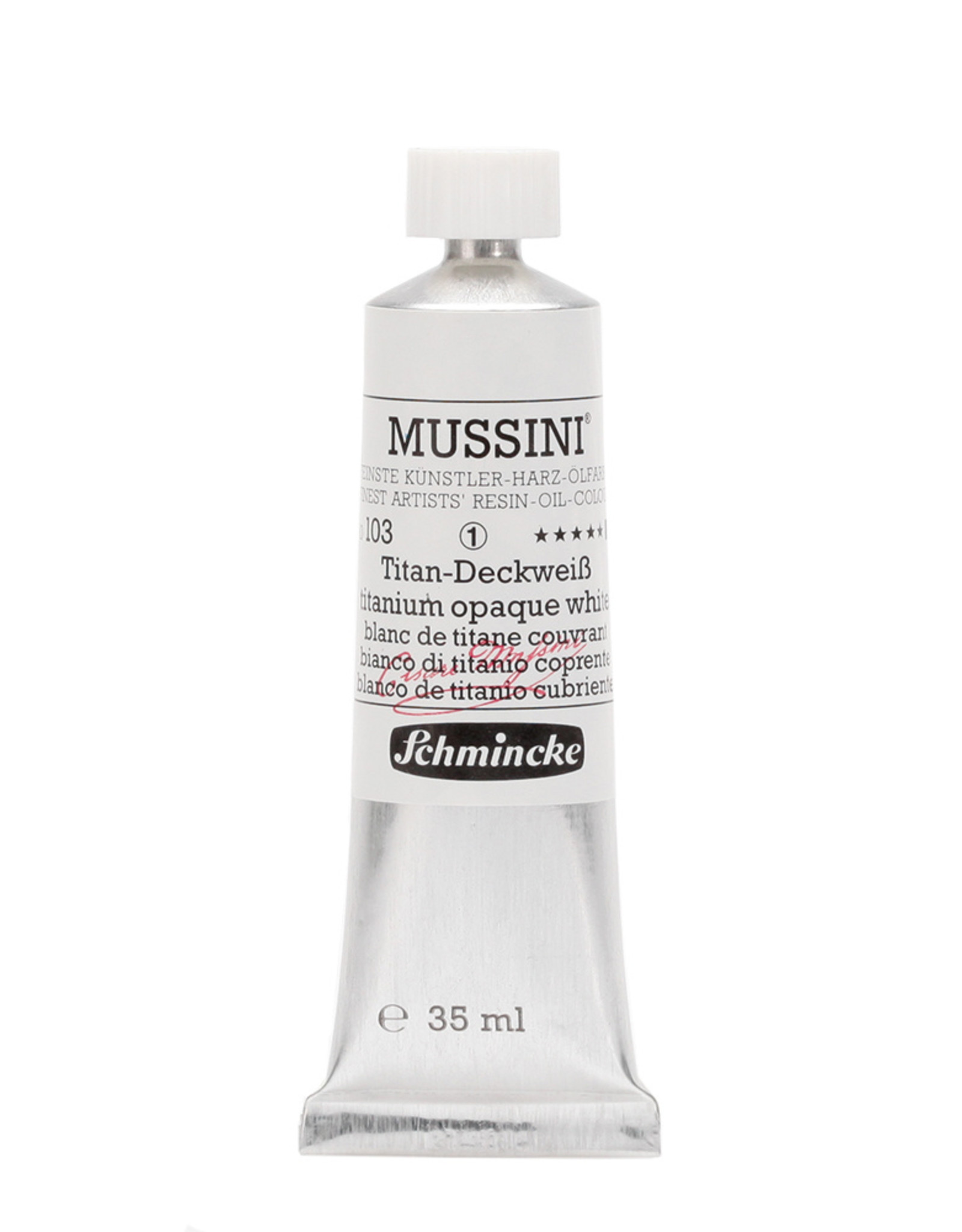 Schmincke Olieverf Mussini 35 ml Wit Titanium 103/1