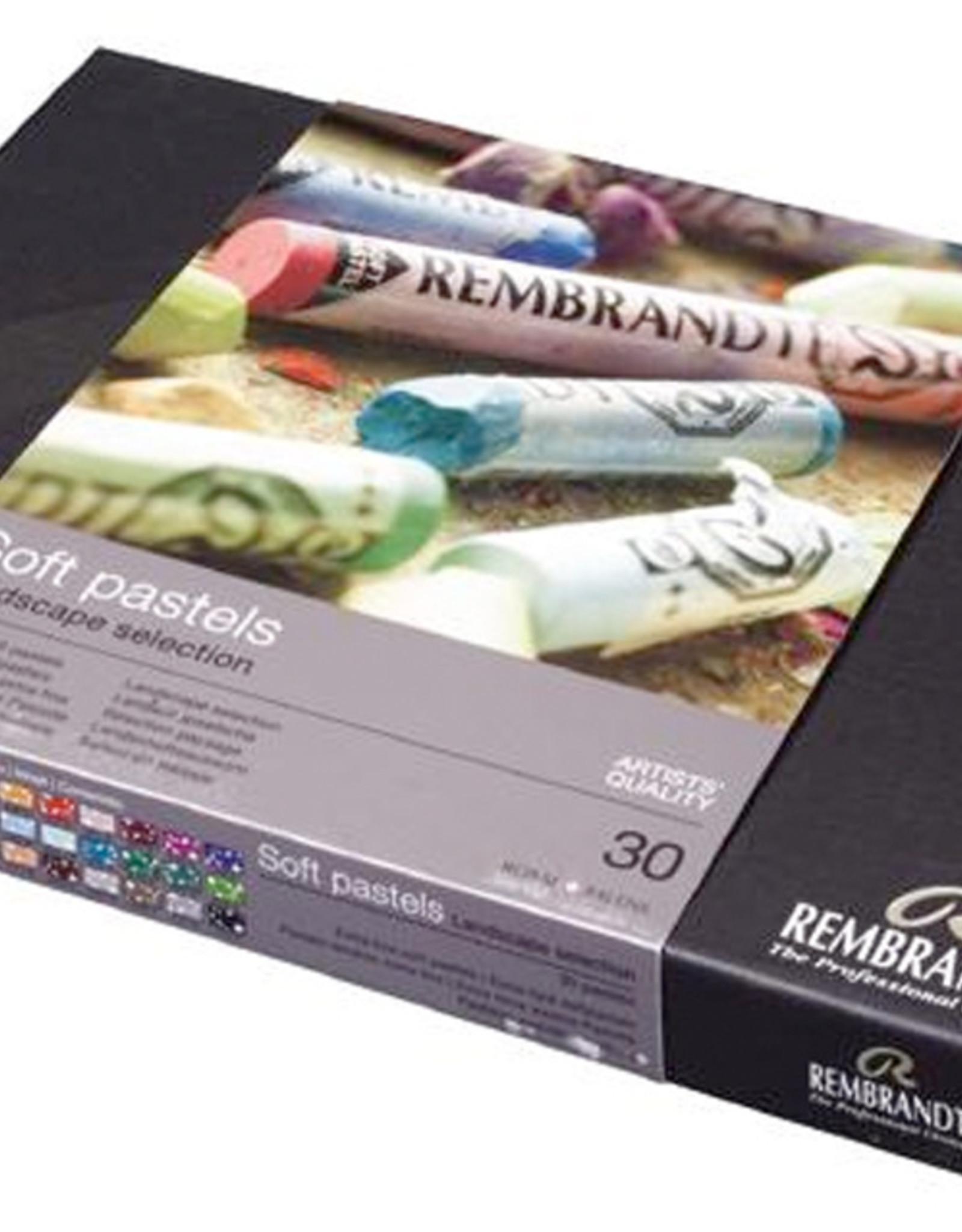 Talens Pastelkrijt Talens Rembrandt topkwaliteitpakket. 30 hele pastels in stevige zwarte kartonnen doos.