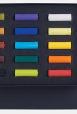 Talens Basis-set Pastelkrijt/ Softpastels, Talens Rembrandt 15 halve pastels Assorti in zwartkartonnen doos