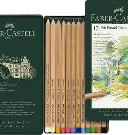 Derwent Basis-set Pastelpotloden Faber-Castell 12 stuks Assorti in metalen box