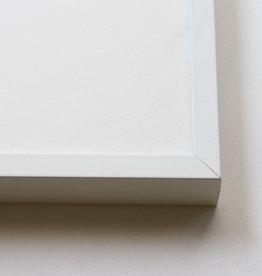 Wissellijst Wit Hoogglans (poedercoat op alu) 40x50cm, bijna nieuw staat, per stuk