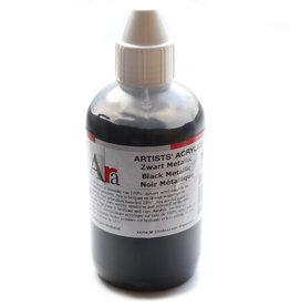 ARA Acrylverf Ara Artists' 250ml, M620 serie C, Metallic Zwart