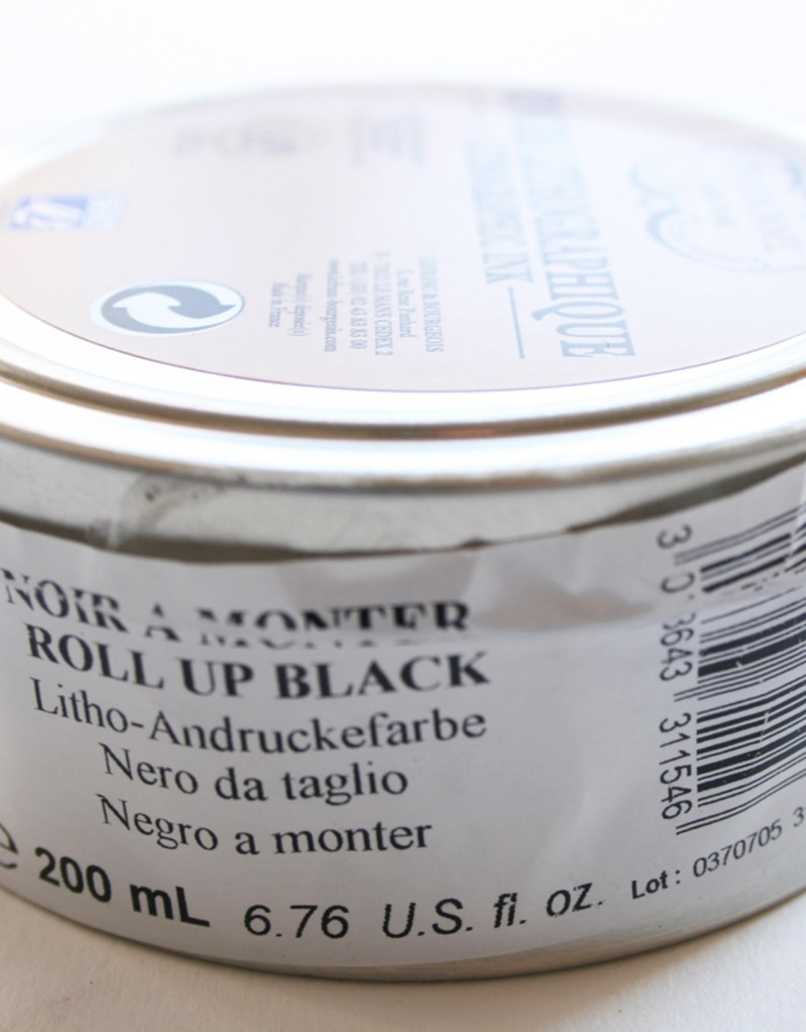 Litho Inkt Zwart Roll Up  (311546) 200 ml Lefranc & Bourgeois / Charbonnel