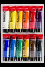 Talens Acryl 'Basis' set Talens Amsterdam 20 ml 8 Spectrumkleuren, 4 aardkleuren