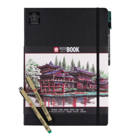 Sakura (Talens) Schetsboek/ Tekendummy, Sakura, 80 pagina, 140 grs, zonder lijntjes