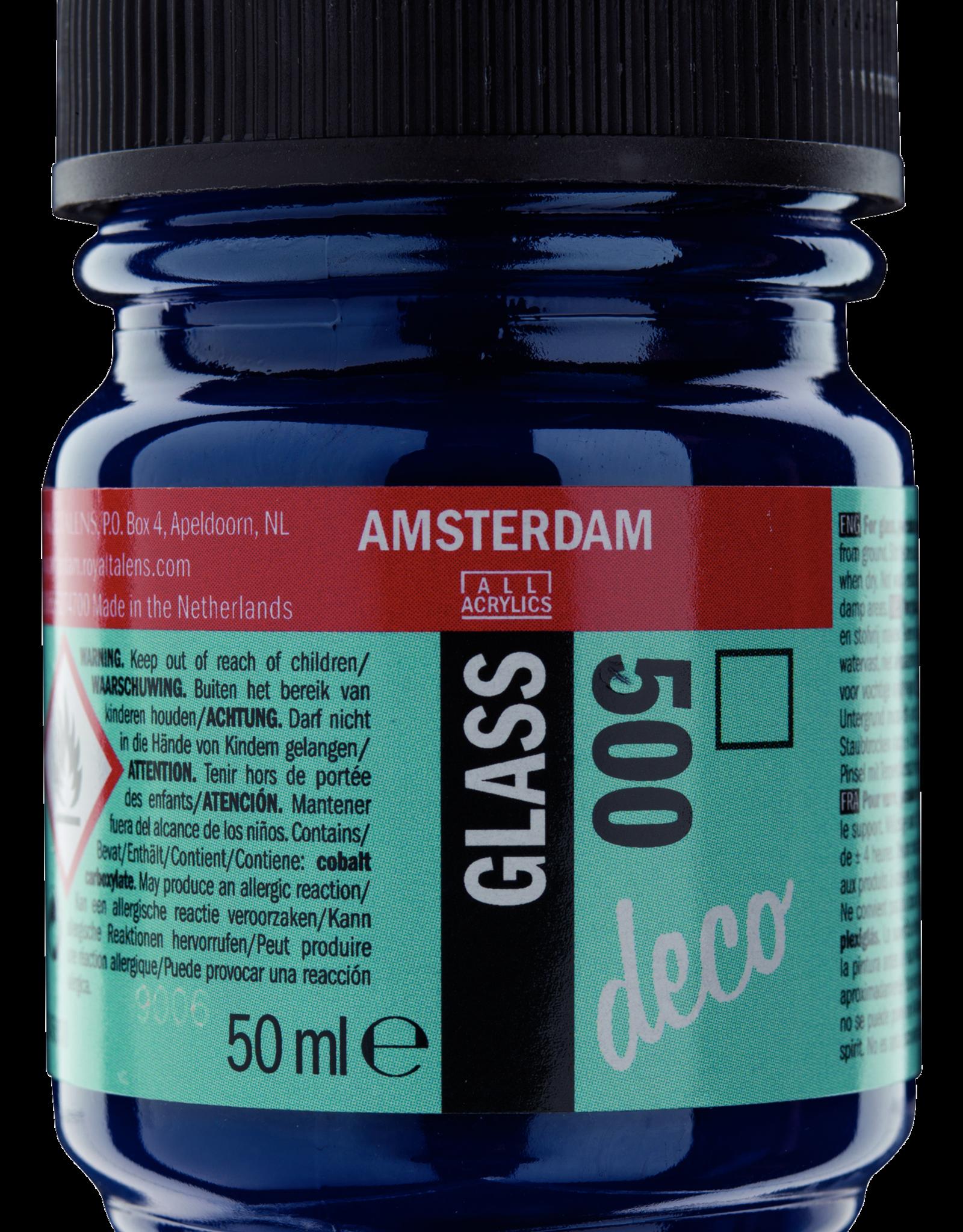 Talens Glasverf  Talens Glass Deco 50ml Blauw no 500